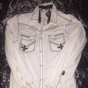 Men's L Roar Designer shirt, White and Black